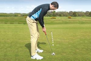 Putting Posture For Proper Head Position Over The Ball