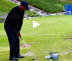 Watch Tigers amazing warm up session at The Farmers Insurance Open...