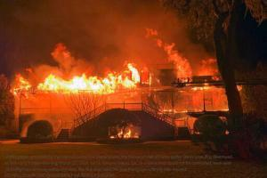 Davis Love III's home destroyed by a fire